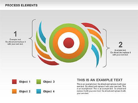 Process Shapes Diagram, Slide 4, 00580, Process Diagrams — PoweredTemplate.com