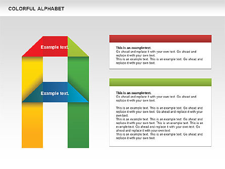 Colorful Alphabet Shapes, Slide 2, 00582, Education Charts and Diagrams — PoweredTemplate.com
