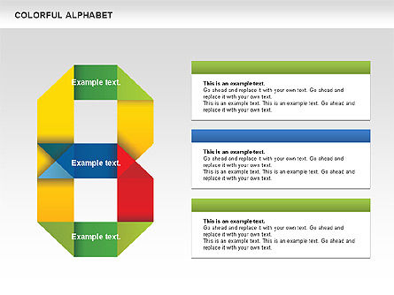Colorful Alphabet Shapes, Slide 3, 00582, Education Charts and Diagrams — PoweredTemplate.com