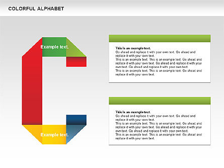 Colorful Alphabet Shapes, Slide 4, 00582, Education Charts and Diagrams — PoweredTemplate.com