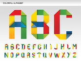 Education Charts and Diagrams: Colorful Alphabet Shapes #00582