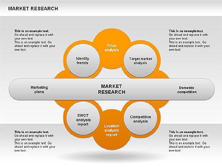 Marketing Research Diagram, Slide 4, 00583, Business Models — PoweredTemplate.com