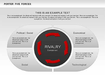 porter s five forces segments diagram for powerpoint presentations
