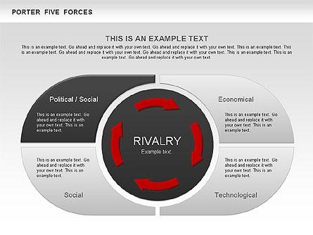 Porter's Five Forces Segments Diagram, Slide 2, 00586, Business Models — PoweredTemplate.com