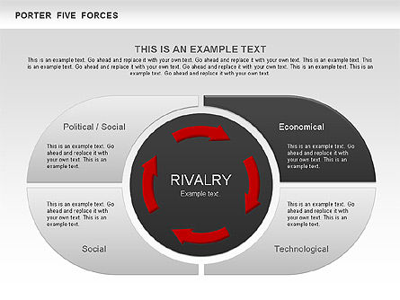 Porter's Five Forces Segments Diagram, Slide 3, 00586, Business Models — PoweredTemplate.com