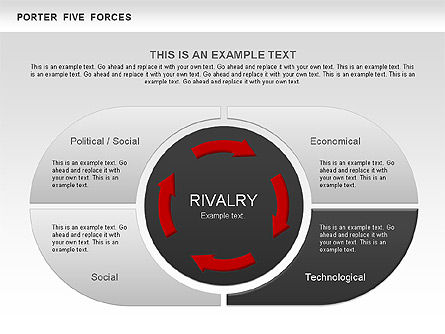 Porter's Five Forces Segments Diagram, Slide 4, 00586, Business Models — PoweredTemplate.com