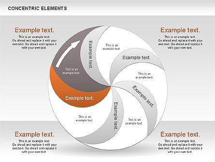 Concentric Process Shapes, Slide 10, 00588, Shapes — PoweredTemplate.com