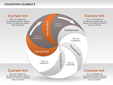 Concentric Process Shapes, Slide 11, 00588, Shapes — PoweredTemplate.com