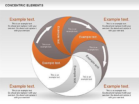 Concentric Process Shapes, Slide 12, 00588, Shapes — PoweredTemplate.com