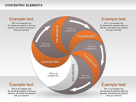 Concentric Process Shapes, Slide 13, 00588, Shapes — PoweredTemplate.com