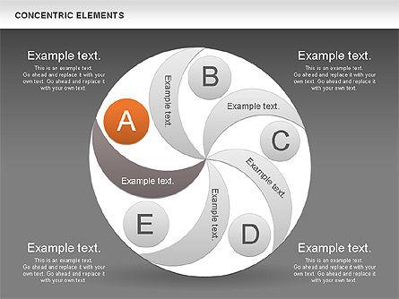 Concentric Process Shapes, Slide 15, 00588, Shapes — PoweredTemplate.com