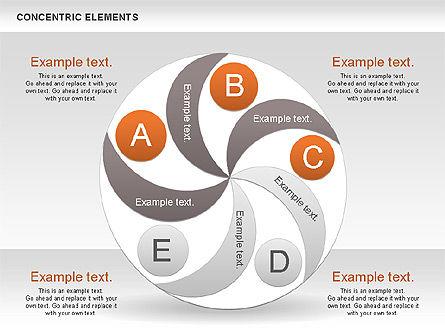 Concentric Process Shapes, Slide 5, 00588, Shapes — PoweredTemplate.com
