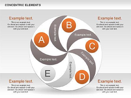 Concentric Process Shapes, Slide 7, 00588, Shapes — PoweredTemplate.com