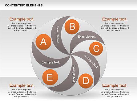 Concentric Process Shapes, Slide 8, 00588, Shapes — PoweredTemplate.com