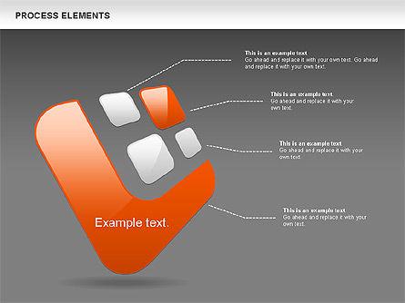 Process Shapes Collection, Slide 11, 00590, Process Diagrams — PoweredTemplate.com