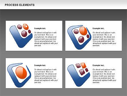 Process Shapes Collection, Slide 12, 00590, Process Diagrams — PoweredTemplate.com