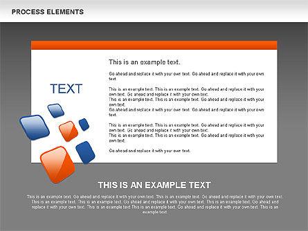 Process Shapes Collection, Slide 13, 00590, Process Diagrams — PoweredTemplate.com