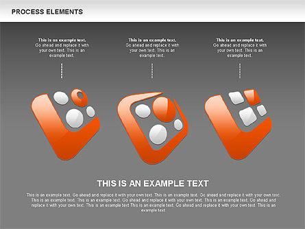 Process Shapes Collection, Slide 14, 00590, Process Diagrams — PoweredTemplate.com