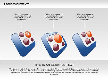 Process Shapes Collection, Slide 5, 00590, Process Diagrams — PoweredTemplate.com
