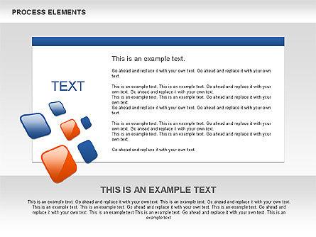 Process Shapes Collection, Slide 6, 00590, Process Diagrams — PoweredTemplate.com