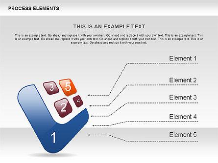 Process Shapes Collection, Slide 7, 00590, Process Diagrams — PoweredTemplate.com