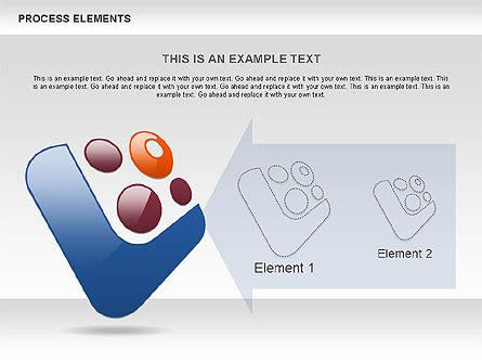 Process Shapes Collection, Slide 8, 00590, Process Diagrams — PoweredTemplate.com