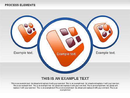 Process Shapes Collection, Slide 9, 00590, Process Diagrams — PoweredTemplate.com
