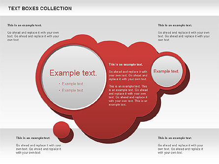 Spot Text Boxes Collection, Slide 2, 00592, Text Boxes — PoweredTemplate.com