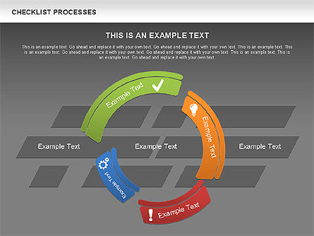 Checklist Processes Diagram, Slide 11, 00593, Process Diagrams — PoweredTemplate.com