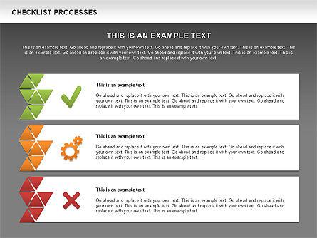 Checklist Processes Diagram, Slide 12, 00593, Process Diagrams — PoweredTemplate.com