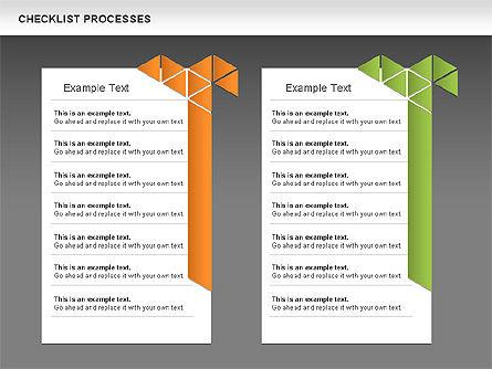 Checklist Processes Diagram, Slide 13, 00593, Process Diagrams — PoweredTemplate.com