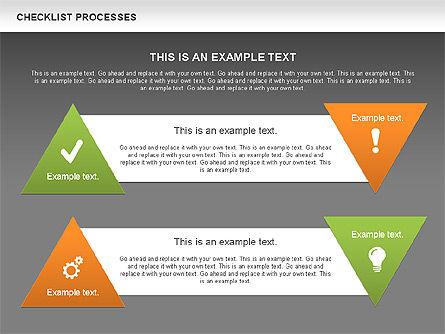 Checklist Processes Diagram, Slide 14, 00593, Process Diagrams — PoweredTemplate.com