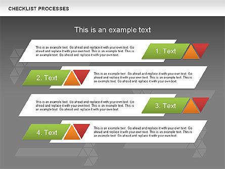 Checklist Processes Diagram, Slide 15, 00593, Process Diagrams — PoweredTemplate.com