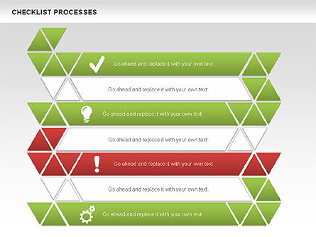 Checklist Processes Diagram, Slide 2, 00593, Process Diagrams — PoweredTemplate.com