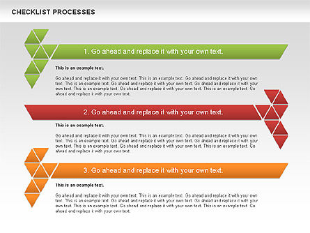 Checklist Processes Diagram, Slide 4, 00593, Process Diagrams — PoweredTemplate.com