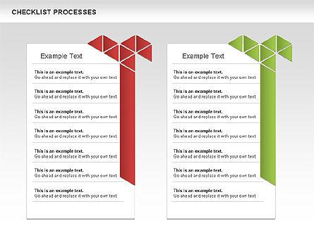 Checklist Processes Diagram, Slide 5, 00593, Process Diagrams — PoweredTemplate.com
