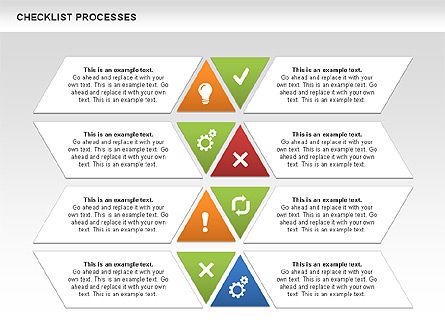 Checklist Processes Diagram, Slide 7, 00593, Process Diagrams — PoweredTemplate.com