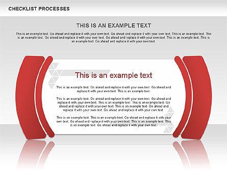 Checklist Processes Diagram, Slide 8, 00593, Process Diagrams — PoweredTemplate.com