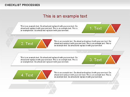 Checklist Processes Diagram, Slide 9, 00593, Process Diagrams — PoweredTemplate.com