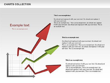 Collection of Arrows and Charts, Slide 10, 00595, Shapes — PoweredTemplate.com