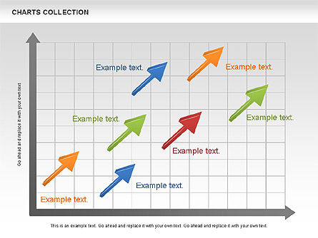 Collection of Arrows and Charts, Slide 11, 00595, Shapes — PoweredTemplate.com