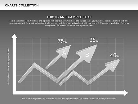 Collection of Arrows and Charts, Slide 12, 00595, Shapes — PoweredTemplate.com