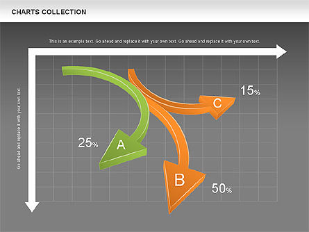 Collection of Arrows and Charts, Slide 14, 00595, Shapes — PoweredTemplate.com