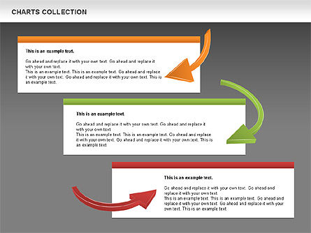 Collection of Arrows and Charts, Slide 15, 00595, Shapes — PoweredTemplate.com