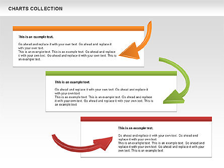 Collection of Arrows and Charts, Slide 6, 00595, Shapes — PoweredTemplate.com
