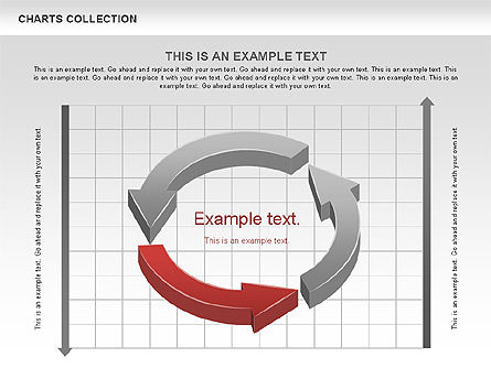 Collection of Arrows and Charts, Slide 9, 00595, Shapes — PoweredTemplate.com