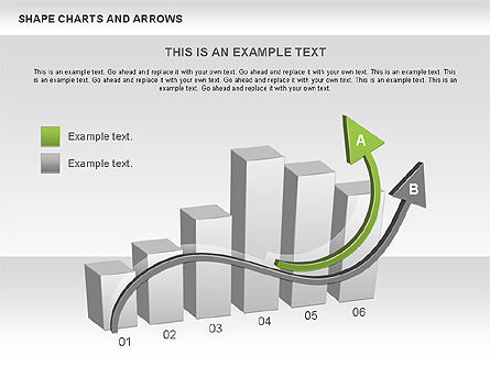 Arrows and Shape Charts, 00596, Shapes — PoweredTemplate.com