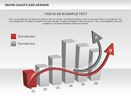 Arrows and Shape Charts, Slide 2, 00596, Shapes — PoweredTemplate.com
