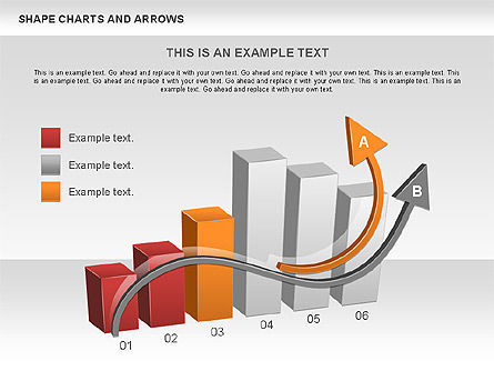 Arrows and Shape Charts, Slide 4, 00596, Shapes — PoweredTemplate.com