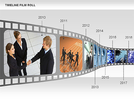 Film Roll Timeline Diagram, 00597, Timelines & Calendars — PoweredTemplate.com